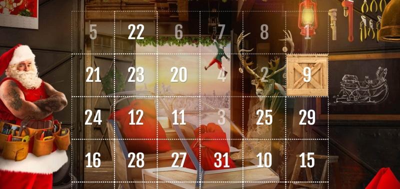casinohuoneen joulukalenteri