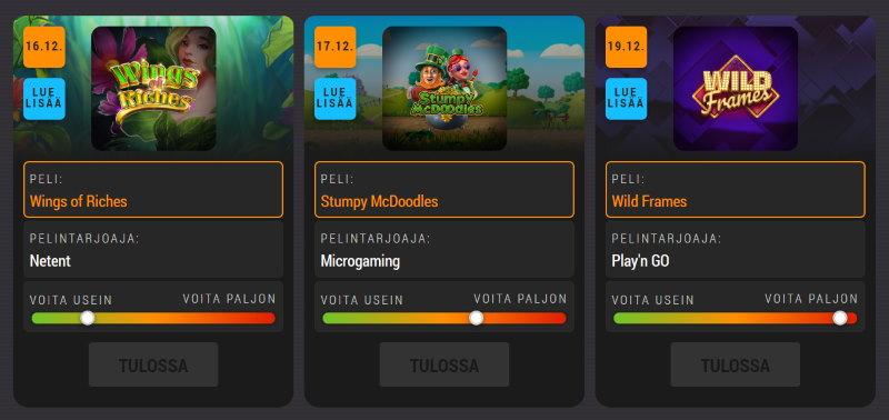 coolbetin kasinokalenteri