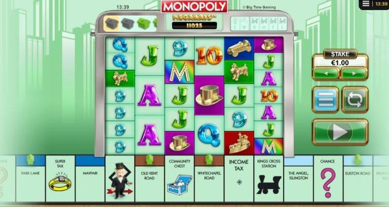 monopoly megaways-kolikkopelit