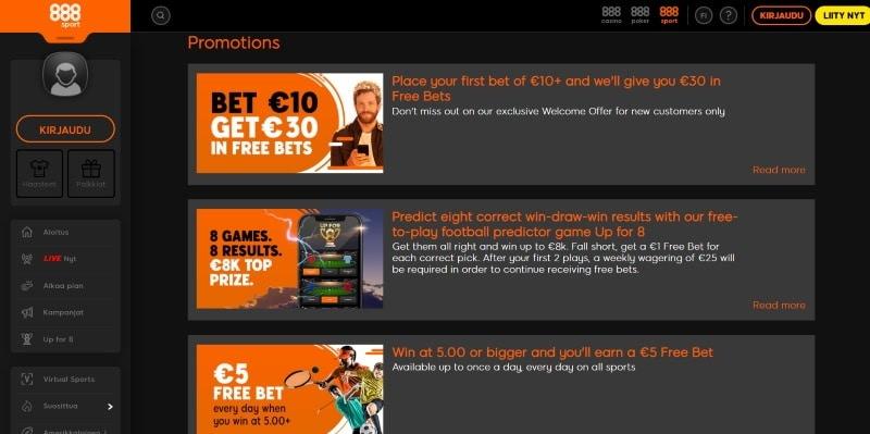 888 Casino Kokemuksia